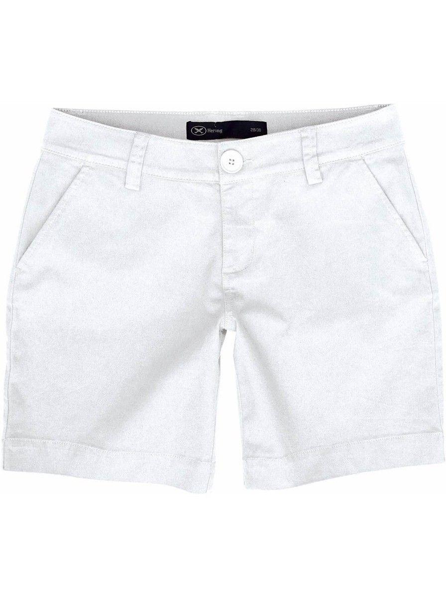 3c692251e2 Bermuda feminina em tecido de algodão e elastano na cor branco em tamanho  034…