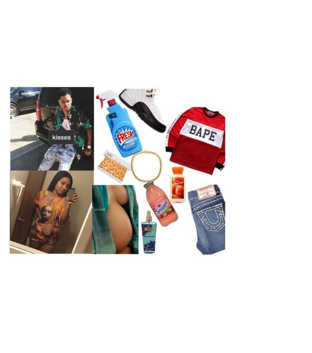 """'Lord, please save her for me, do this one favor for me,'--Imoni"" by trillions-doe ❤ liked on Polyvore featuring A BATHING APE, True Religion, Moschino, Retrò and Victoria's Secret"