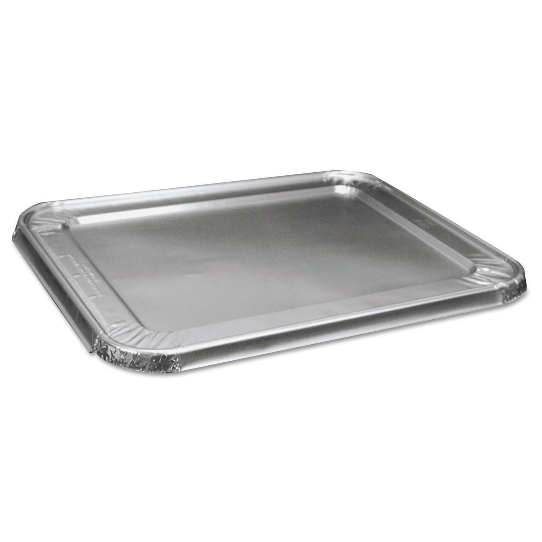Boardwalk Half Size Steam Table Aluminum Pan Lid For Deep Pans Pack Of 100 Aluminum Pans Aluminum Table Deep Pan