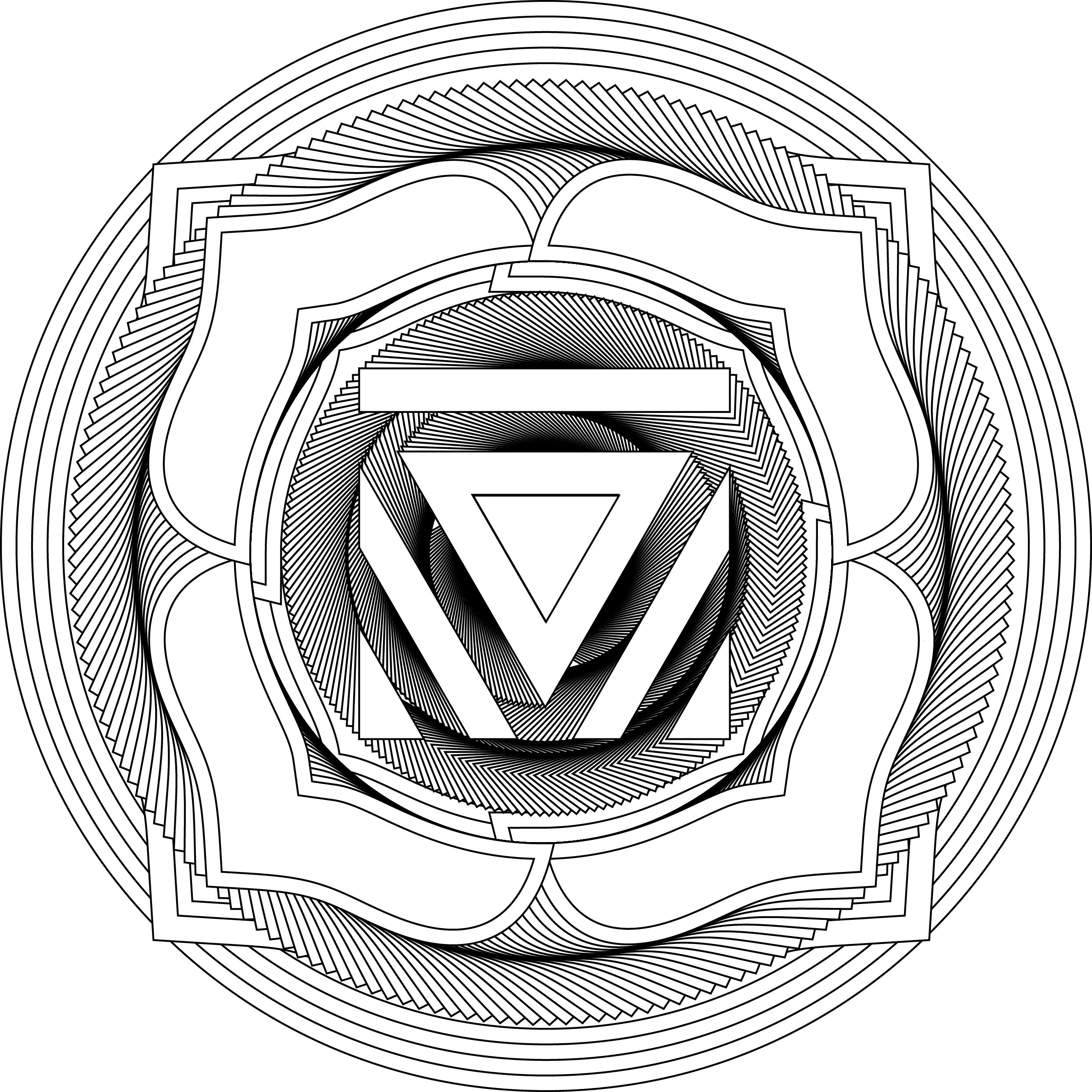 Muladhara; the root chakra (With images) | Coloring pages ...