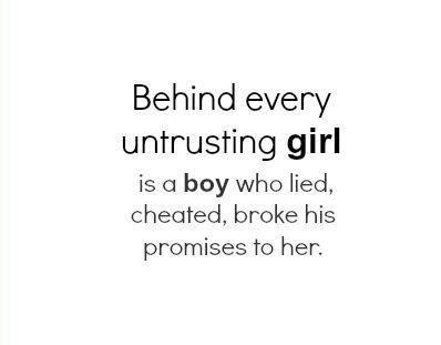 Boys that cheat