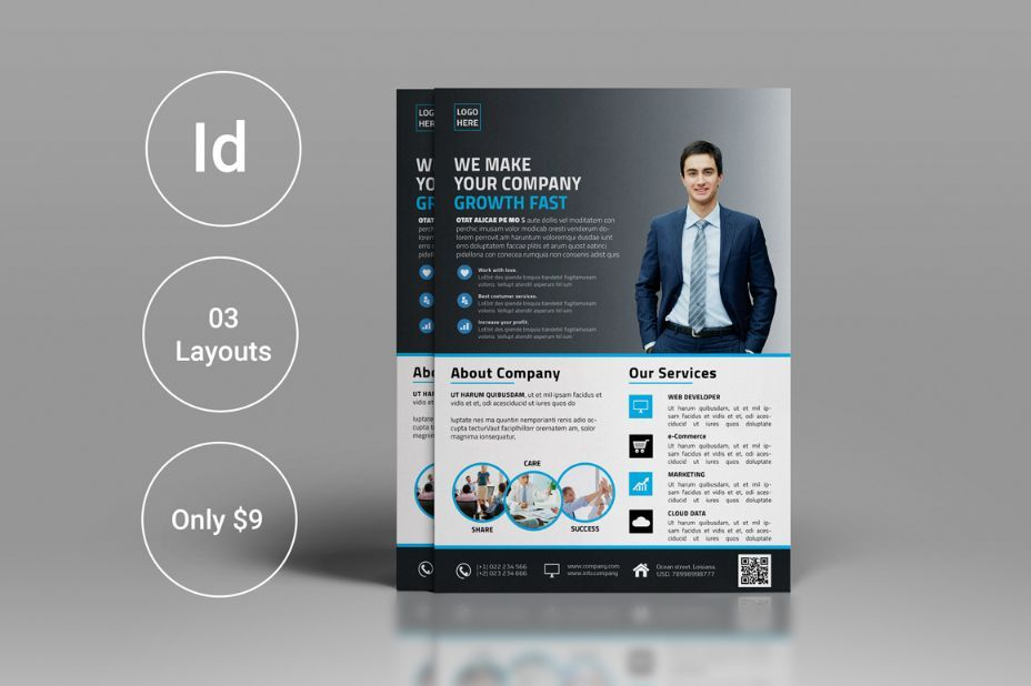 InDesign Project Flyer Template PSD 15+ Corporate Flyer Template - free business flyer templates for word