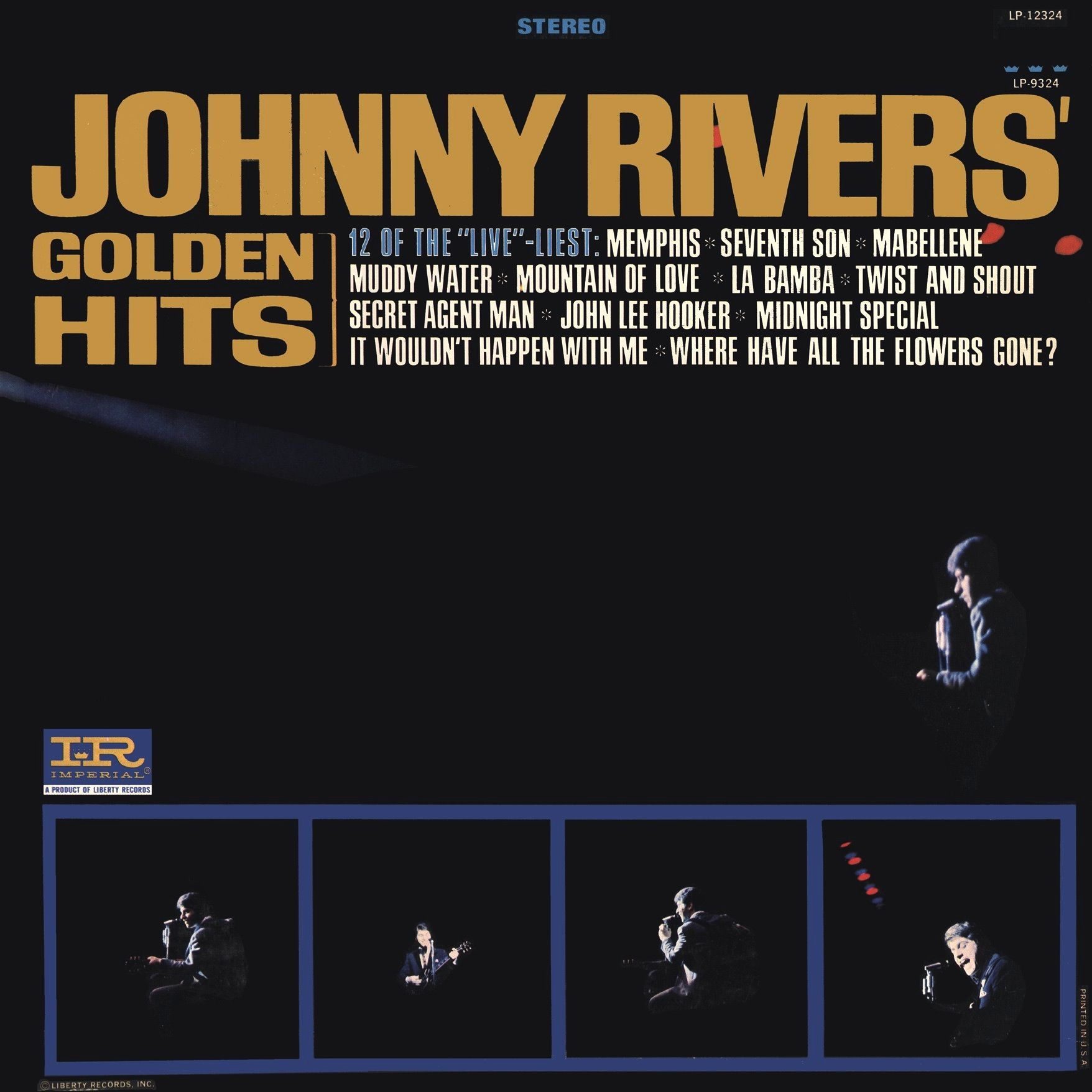 Golden Hits 1966 Imperial By Johnny Rivers Lp Cover Johnny Rivers Album Covers