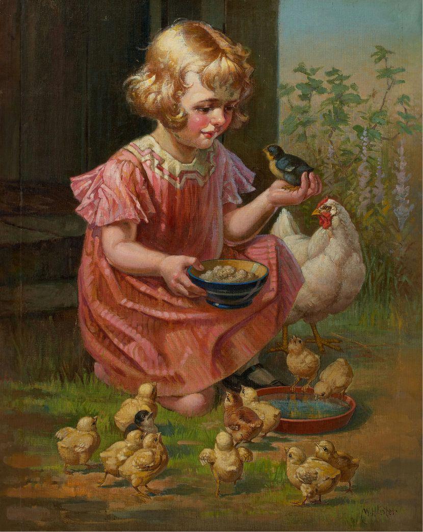 Картинки кормят цыплят