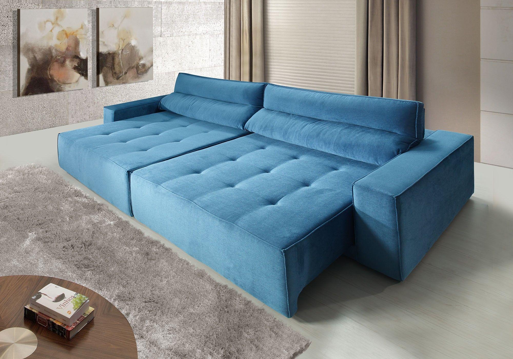 Sof sublime 4 lugares assento retr til e encosto for Sofa 4 lugares reclinavel e assento retratil