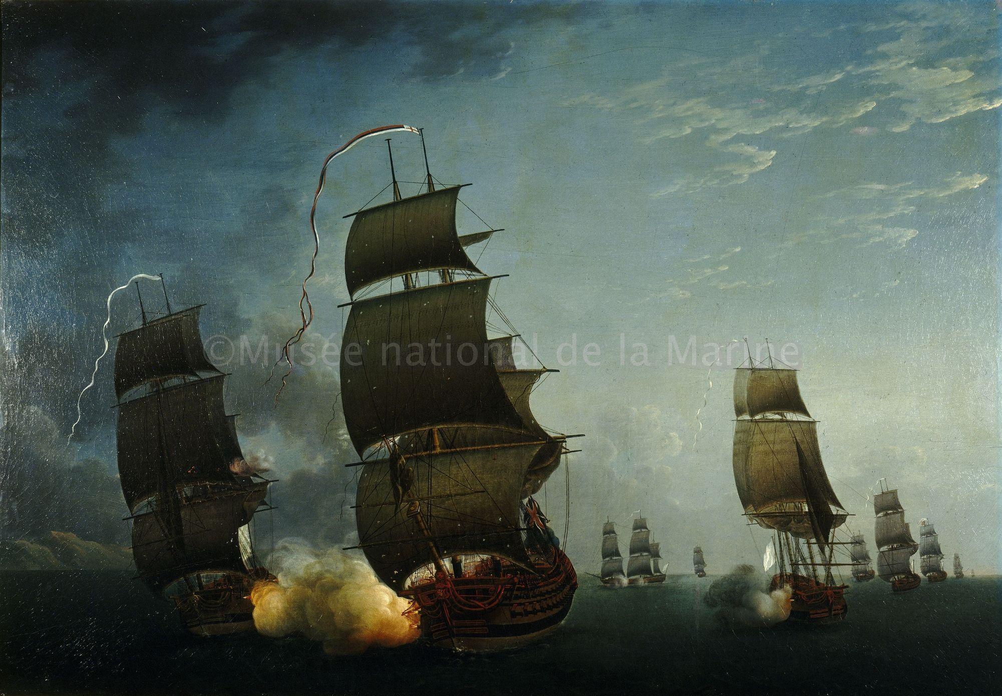 Combat de la Junon et la Gentille contre l'Ardent, 17 août 1779 / 3 OA 24 | Musée national de la Marine
