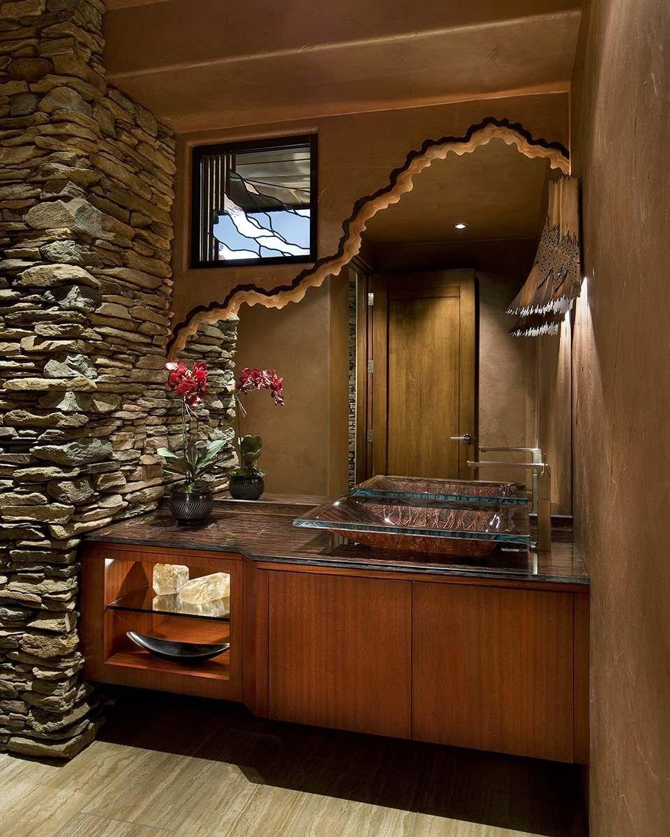 15 Bathrooms With Beautiful Statement Mirrors Unique Bathroom