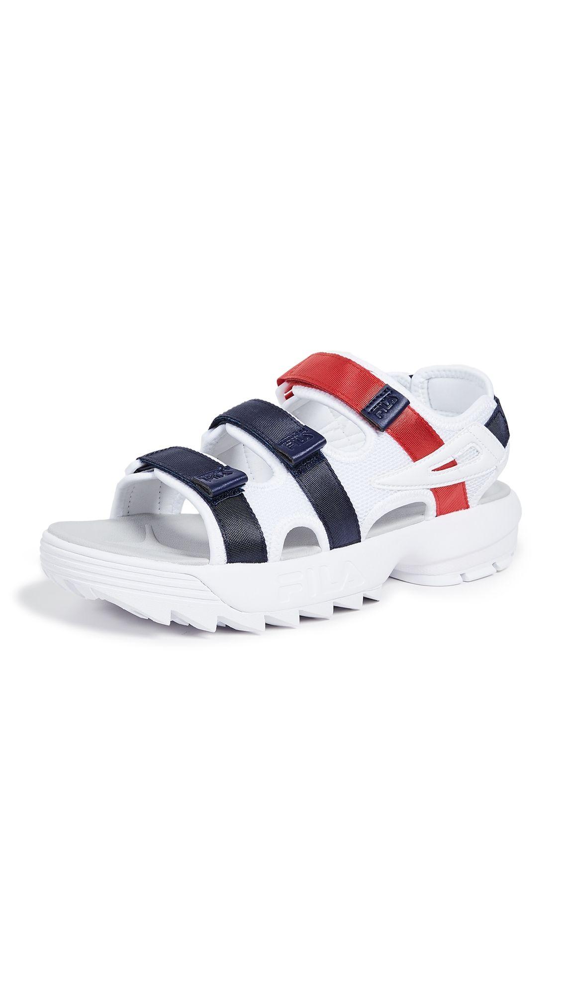 Fila Disruptor Strappy Sandals In White