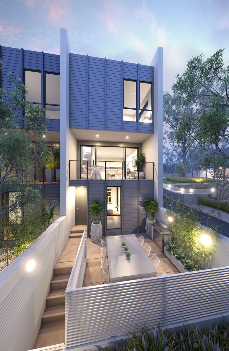 Modern Townhouse, Townhouse Designs, Townhouse Exterior