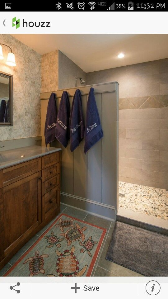 A Nice Way To Avoid Shower Door Or Curtain