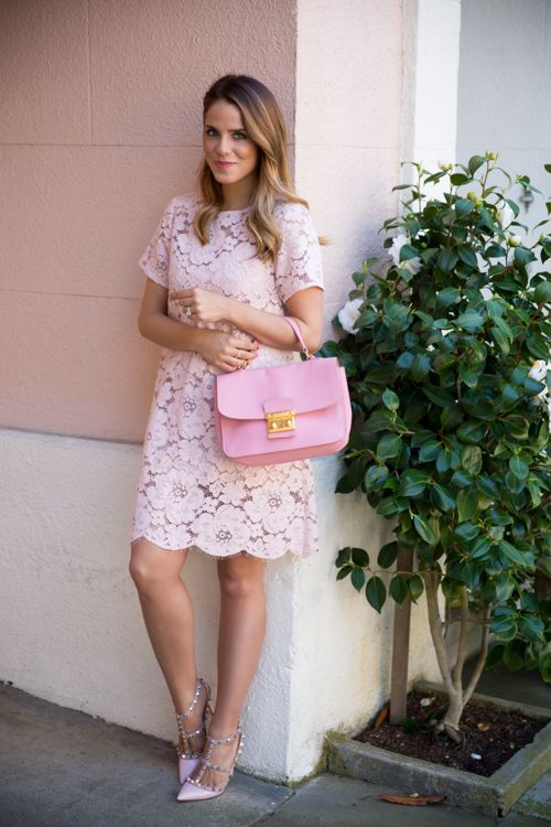 947db231e406 Loving this pink lace dress