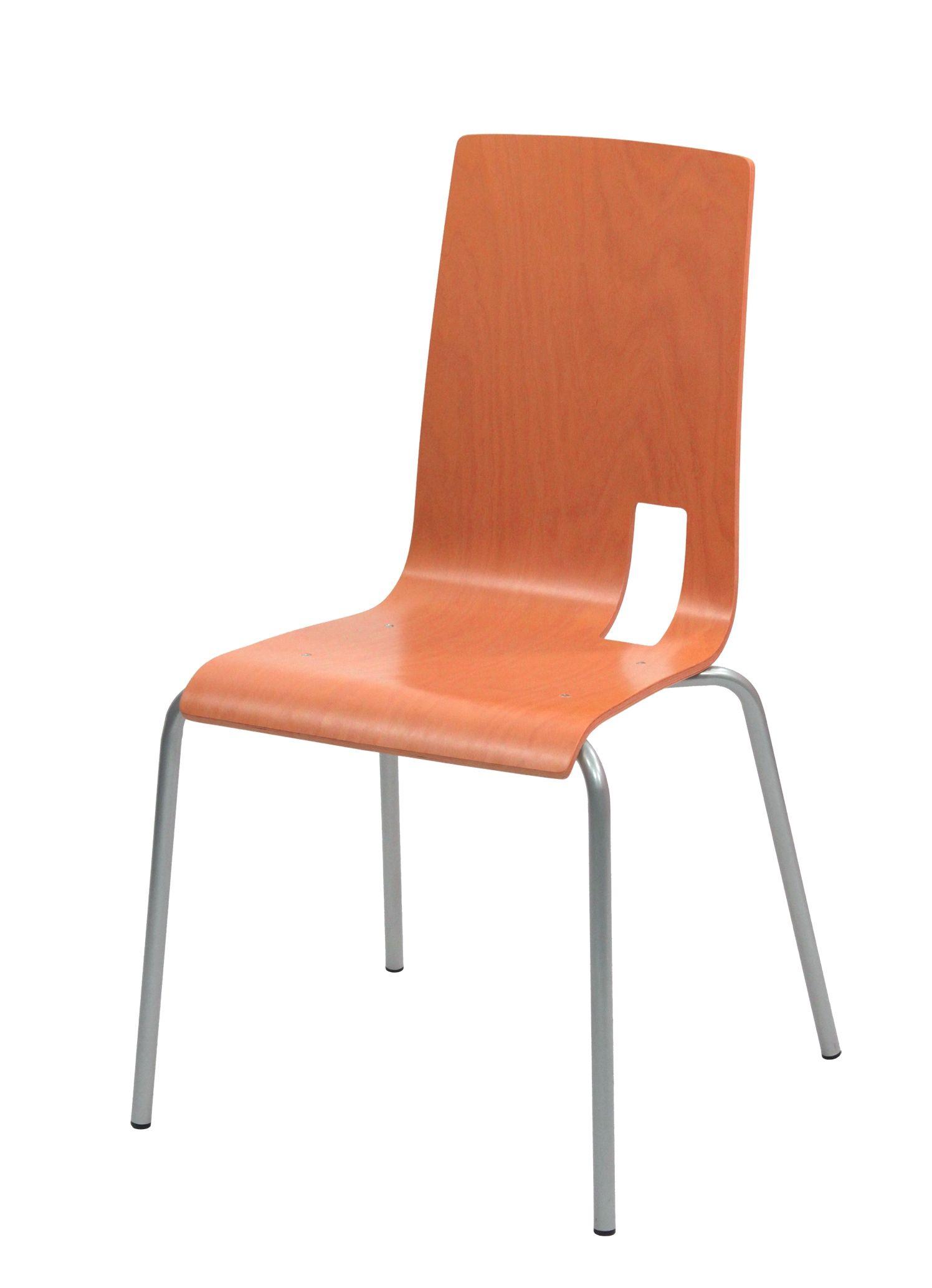 CHAISE SODA IXIA EMPILABLE COQUE ORANGE #chaise #chair #fauteuil #siegerestauration #equipementrestaurant #empilable