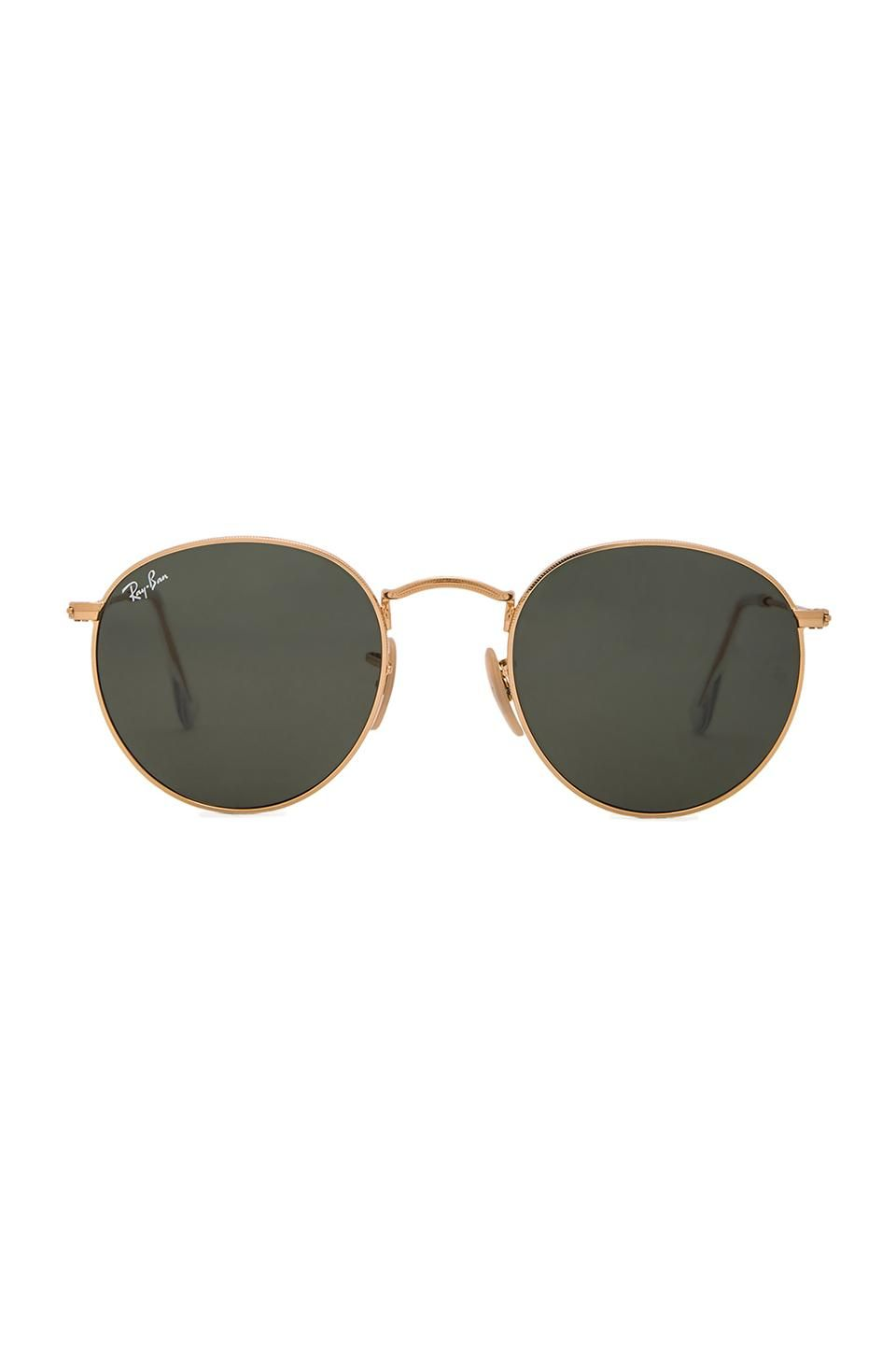 d6a3d3bb6a Ray-Ban Round Metal in Green Classic