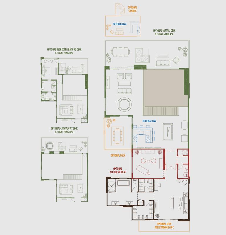 Sky Terrace Blue Heron House Design Floor Plans Custom Homes