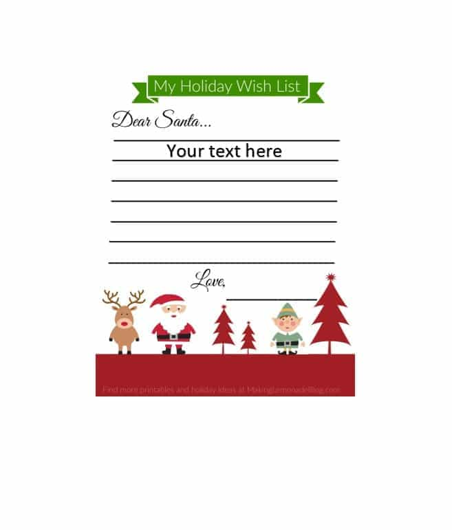 Christmas Wish List Templates 14 Free Printable Word Excel Pdf Christmas Wish List Template Christmas Wishes Christmas Card Template