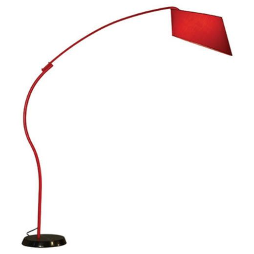 Nova Ibis Arc Floor Lamp Shade Color Red A Light Bulb