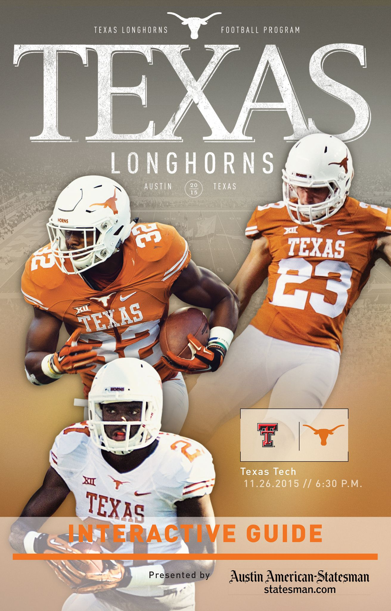 Texas vs. Texas Tech [Nov. 26, 2015 featuring RB Johanthan