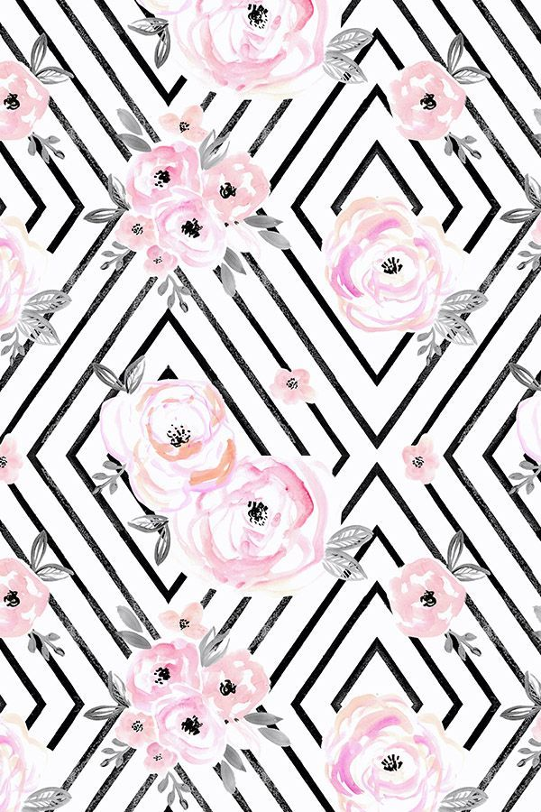 Colorful fabrics digitally printed by Spoonflower Blush