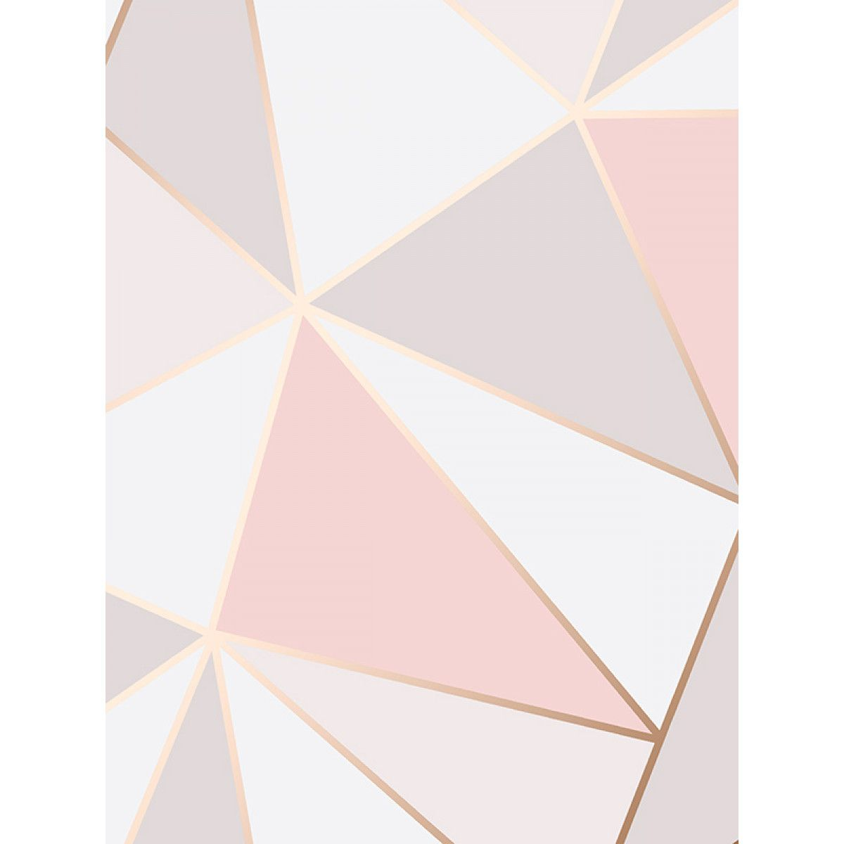 Grey And Pink Apex Geometric Wallpaper Rose Gold Fine Decor Fd41993 In