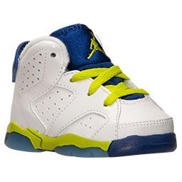 68f1507a1ed Air Jordan Retro 6 | White/Fierce Green/Deep Royal Blue | kids ...