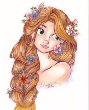 misskerriej copic marker - rapunzel from tangled - quilling inspiration