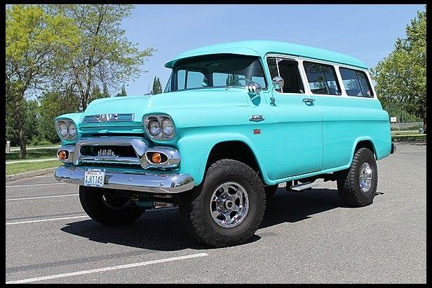 1959 Gmc Suburban 350 Ci 4 Speed At Mecum Auctions Gmc Trucks Gmc Trucks