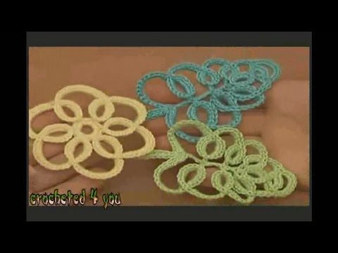 How to Crochet flower treadmill step by step
