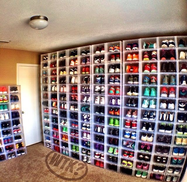 Wish this was my sneaker closet!