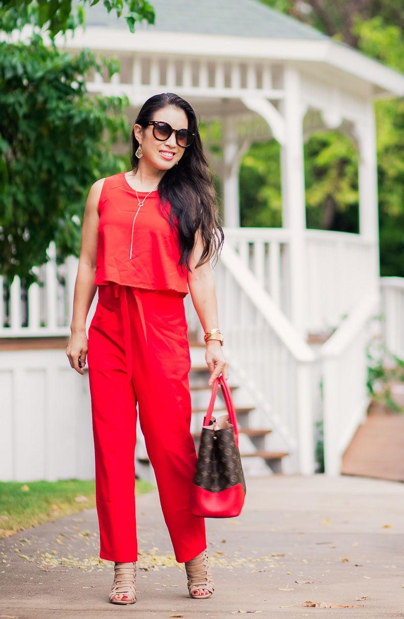 8d7735baaf Red Jumpsuit + Louis Vuitton Flandrin