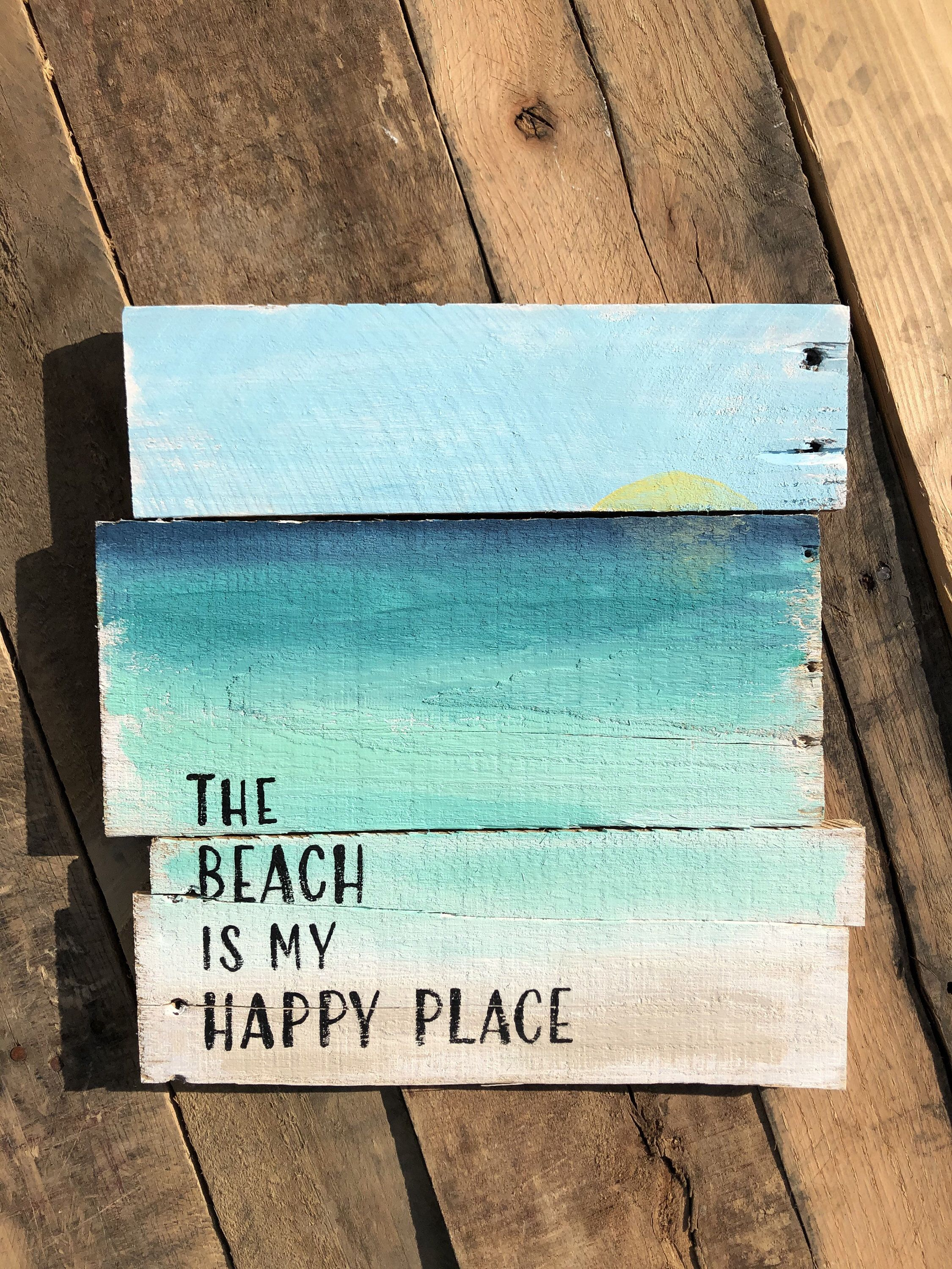 Beach Signs Beach Decor The Beach Is My Happy Place Happy Place
