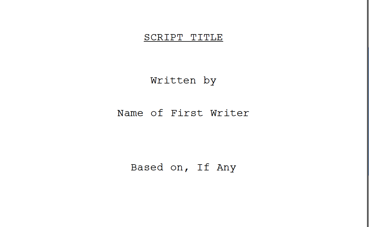 Reader Question What Exactly Is A Spec Script  Go Into The