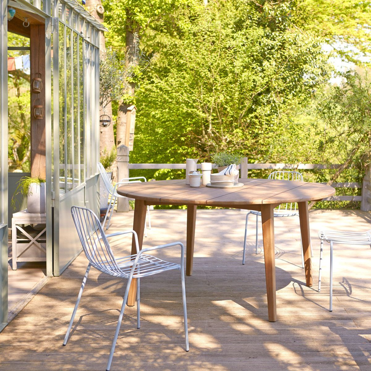 Table De Jardin En Bois De Teck 150 Grasshopper - Taille ...