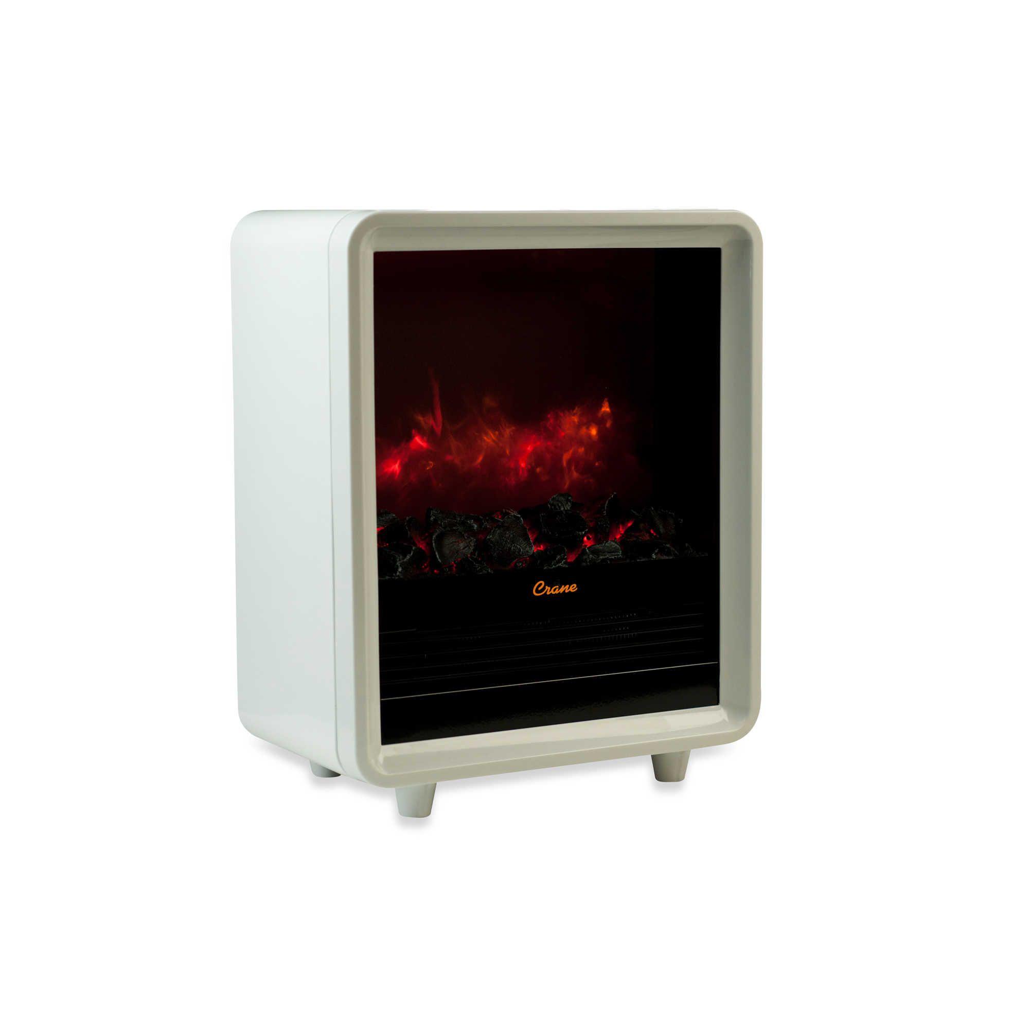 Crane Mini Fireplace Heater In White Fireplace Heater Space