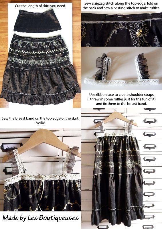 154c278ae0b Recyclage   une jupe longue en robe de fillette - Les boutiqueuses ...