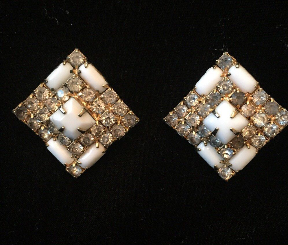 A personal favorite from my Etsy shop https://www.etsy.com/listing/228581550/stunning-rhinestone-clipon-earrings