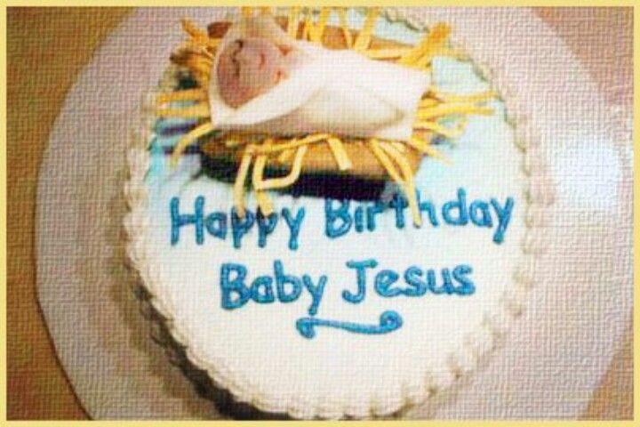 Astonishing Jesus Birthday Cake Happy Birthday Baby Jesus Birthday Happy Personalised Birthday Cards Akebfashionlily Jamesorg