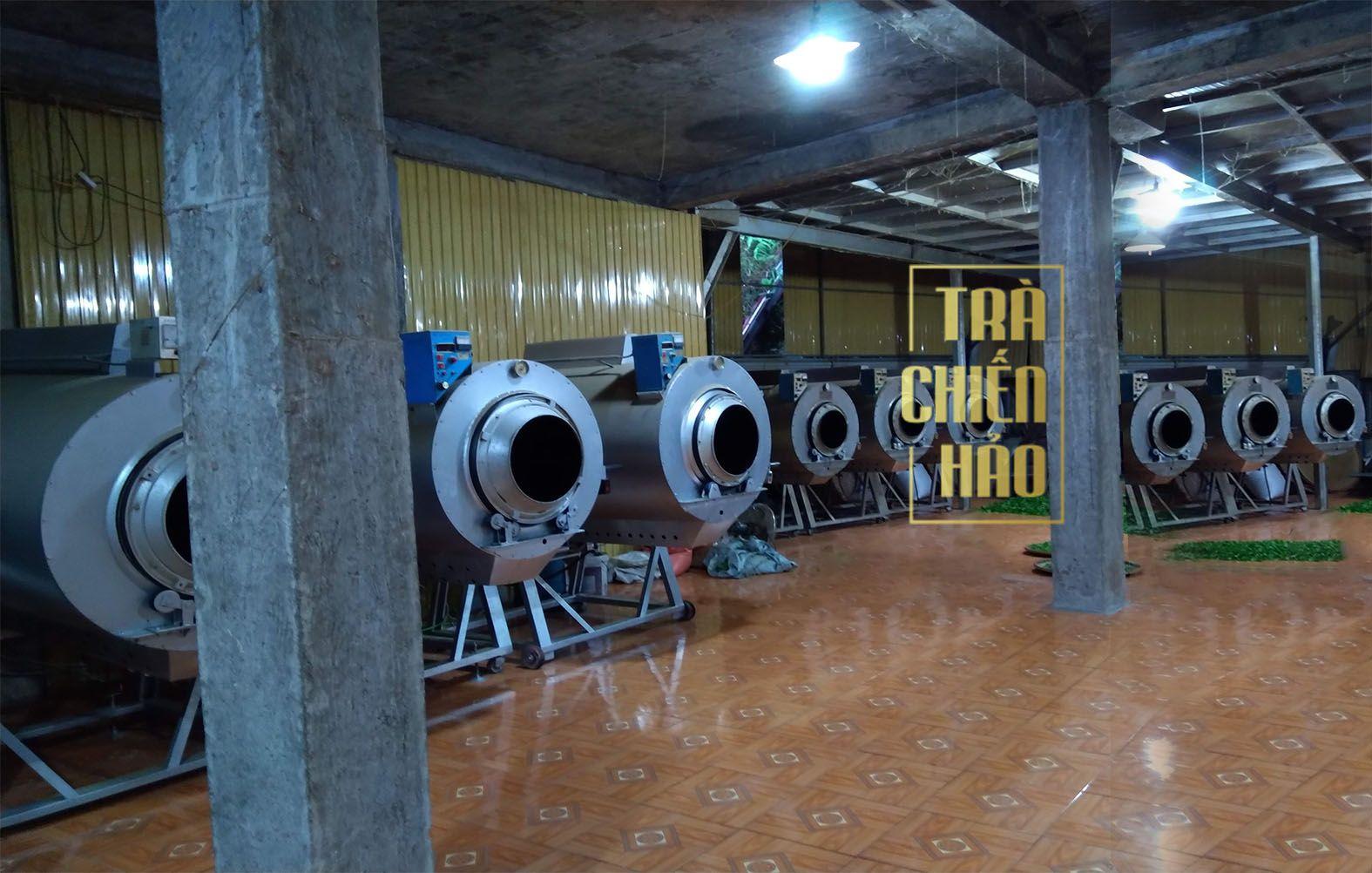 SAN XUẤT TRÀ SHAN TUYẾT .Trà shan tuyết được sản xuất tỉ mỉ bằng hệ thống sào ga