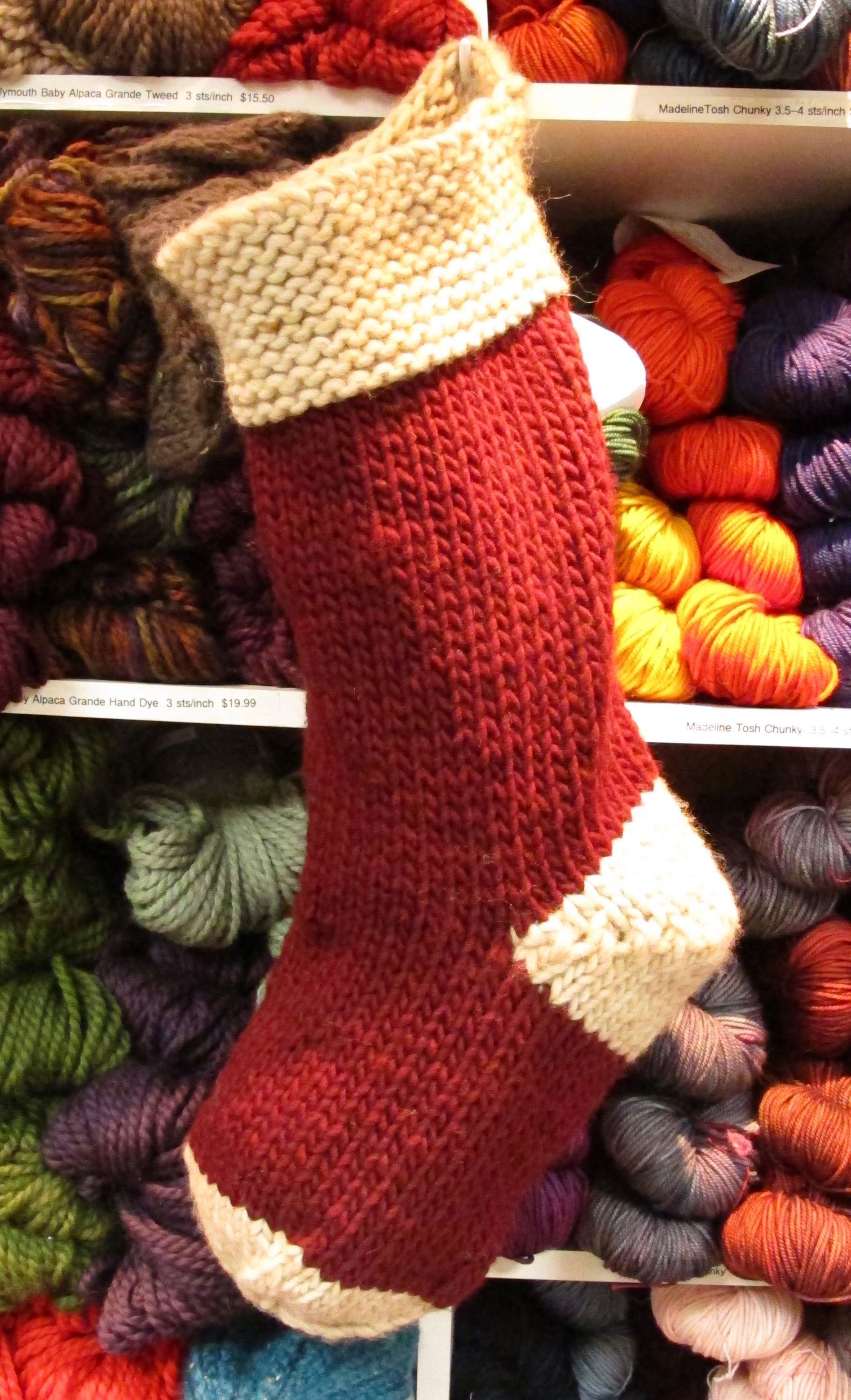 simple bulky christmas stocking. I need this pattern ...