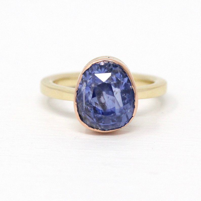 Antique Sapphire Ring 10k Yellow Rose Gold Genuine 6 72 Ct Etsy Sapphire Antique Ring Gold Sapphire Ring Sapphire Ring