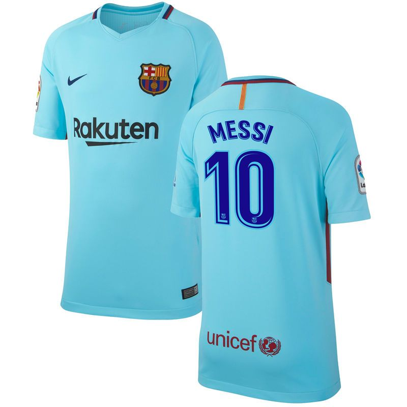 uk availability 3f9ec 9953a Lionel Messi Barcelona Nike Youth 2017/18 Away Replica ...