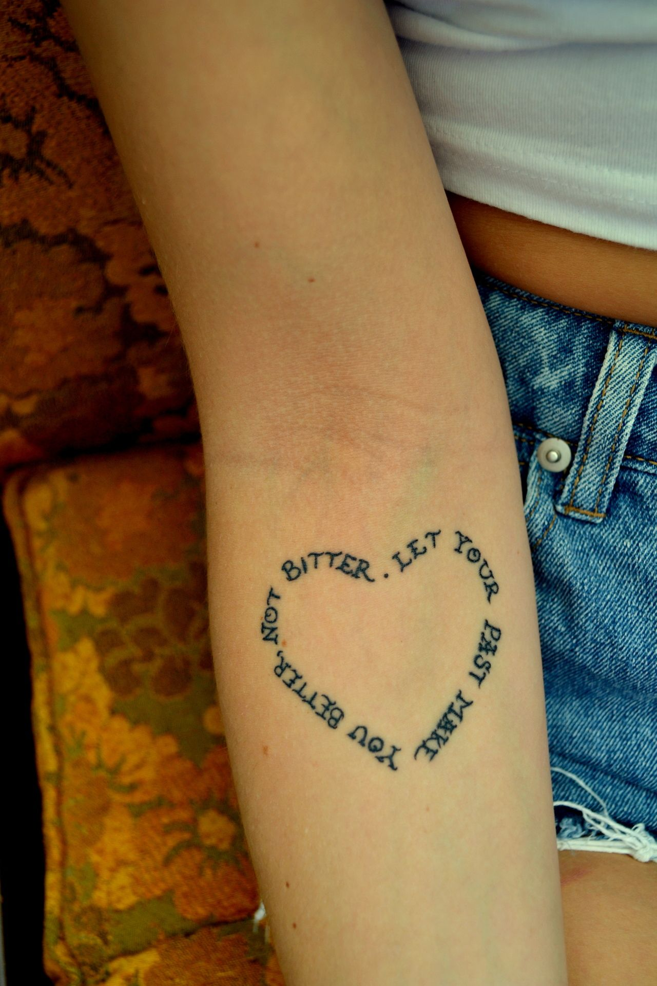 Meaningful Words In The Shape Of A Heart A Nice Concept For A Post Mastectomy Tattoo P Ink Org Tattoos Heart Temporary Tattoos Love Tattoos