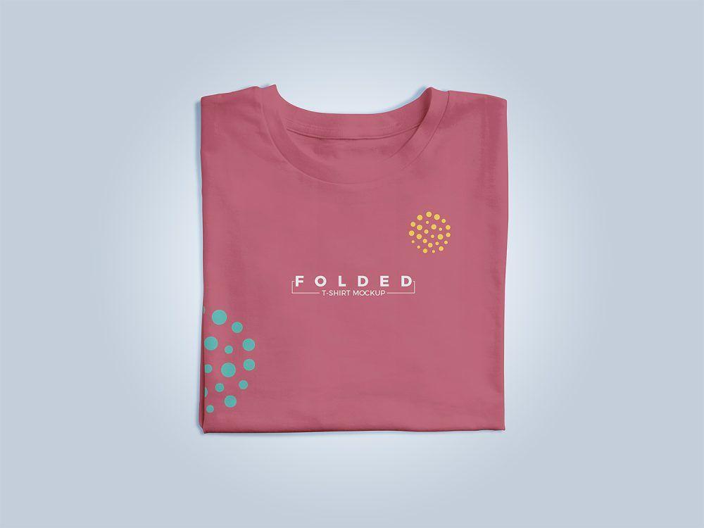 Free Folded T Shirt Apparel Mockup Free Mockup Clothing Mockup Clothing Logo Shirts