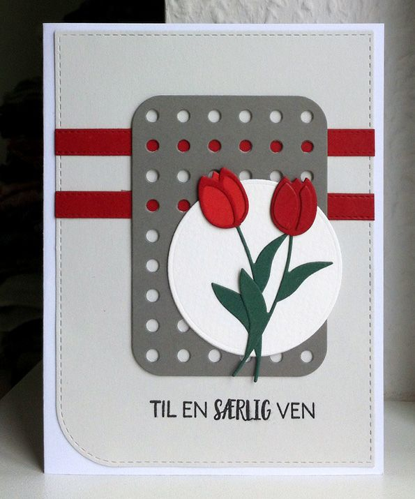 Card flower tulips tulips flowers Rayher die set MFT Blueprints 22 Die-namics #mftstamps Sentiment stamp from Three scoops - JKE