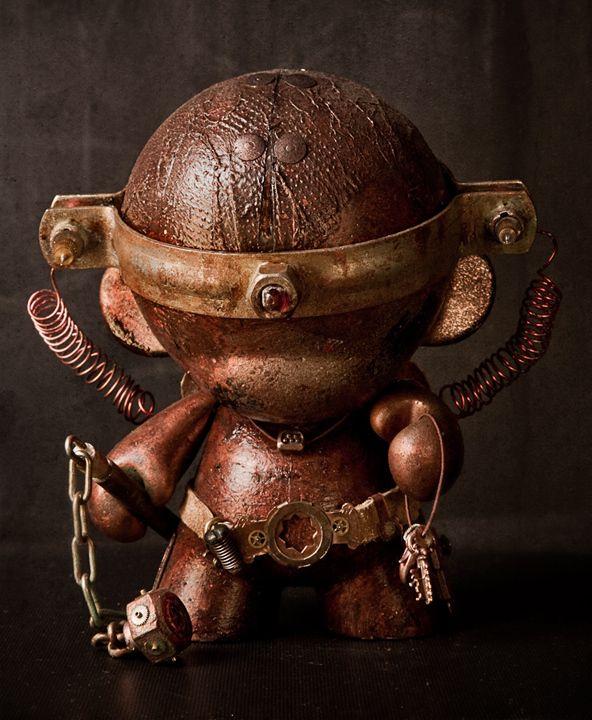 Steampunk Munny by Anthony Black, via Behance