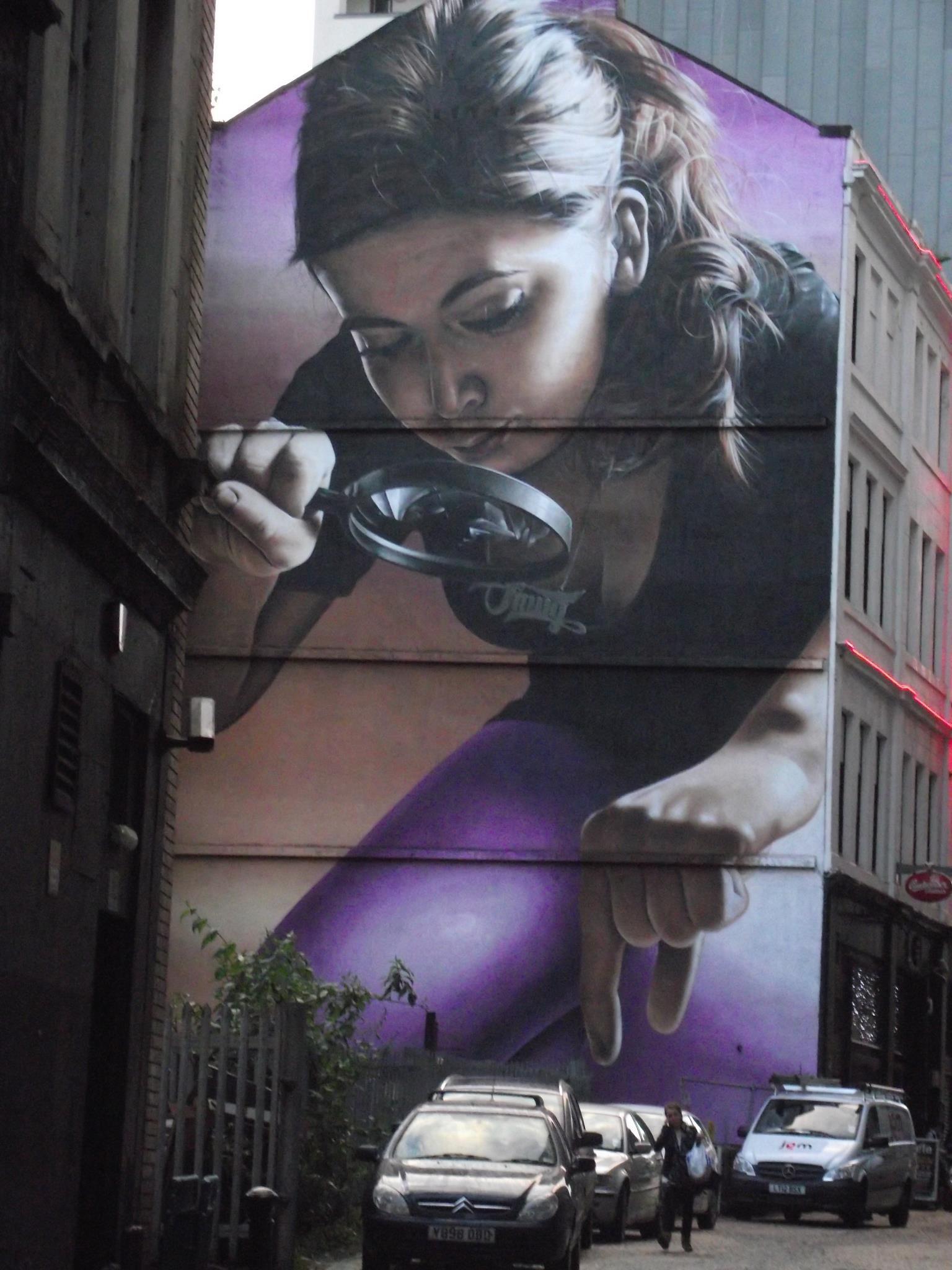 Street Art by Smug in Glasgow, Scotland