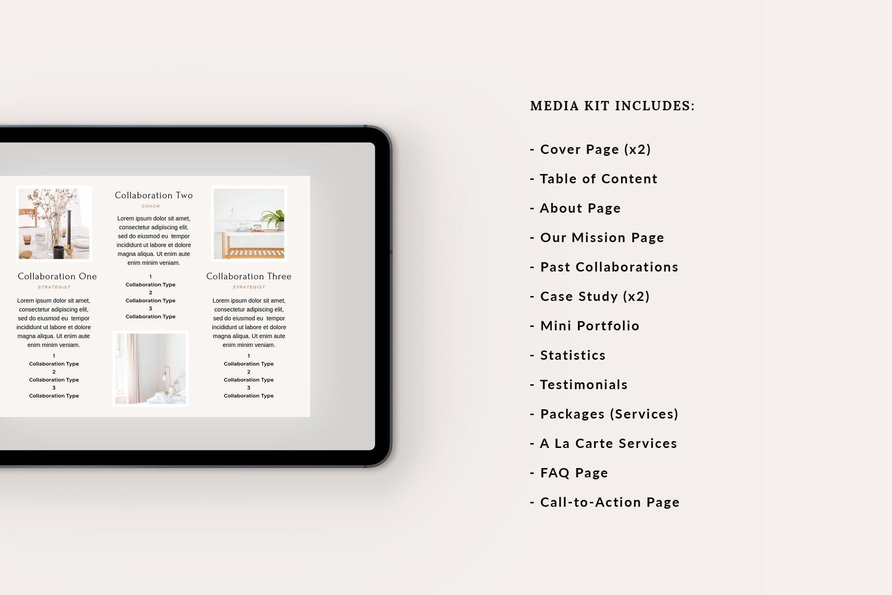 Media Press Kit Press Kit