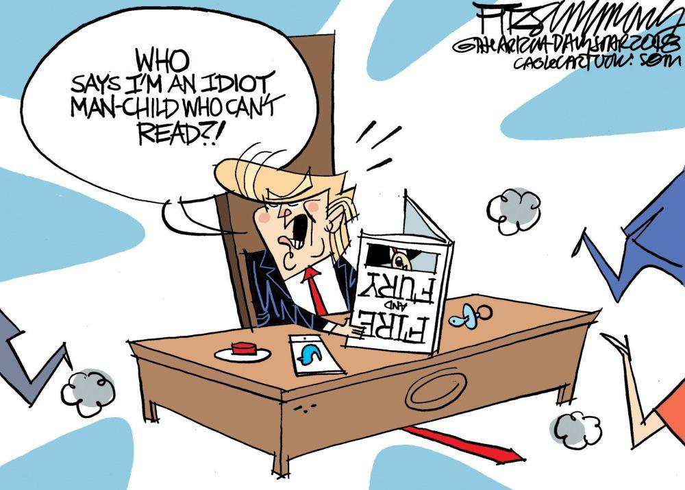 Political Cartoon U S Trump Fire And Fury Political Cartoons