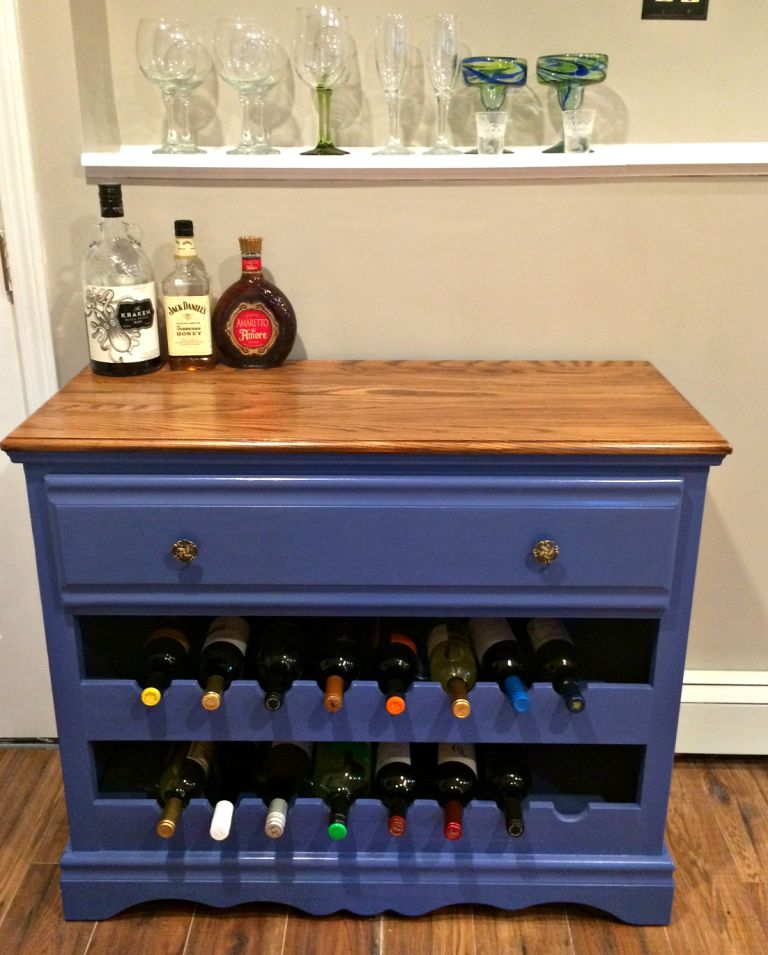 Do You Need Inspiration To Re Purpose Your Old Dresser Check Out My Wine Bar Rack For