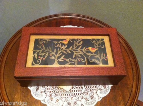 Birds. Large Trinket Wood Box ... click through photo to purchase.
