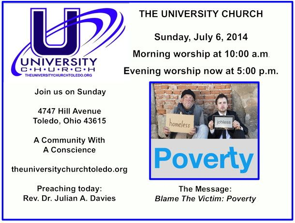 Join us at The University Church for worship - Sunday at 10:00 a.m. and/or 5:00 p.m.